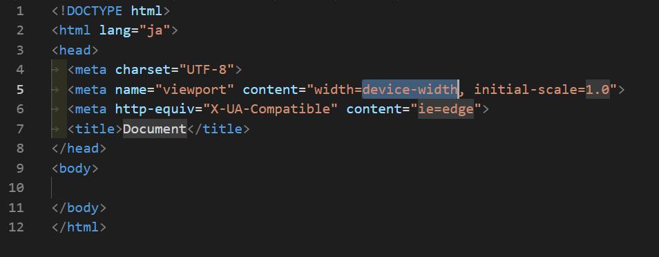 htmlひな形